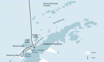 mapa basecamp: Antártida