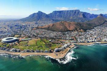 Vista aérea. Cape Town. Sudáfrica.: Sudáfrica, Swaziland, Lesotho