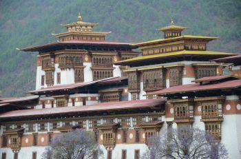 Detalles del Dzong de Paro: Bhutan