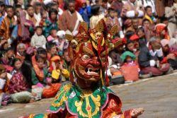 Baile de máscaras en  Bumthang: Bhutan, Nepal