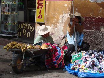 Mercado en Sucre: Bolivia