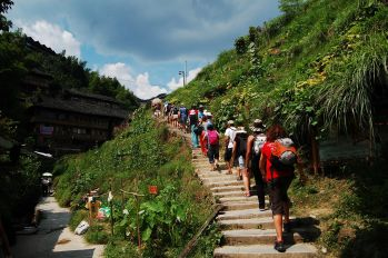 Trekking por los arrozales de Longsheng: China