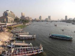 El Nilo a su paso por El Cairo: Egipto