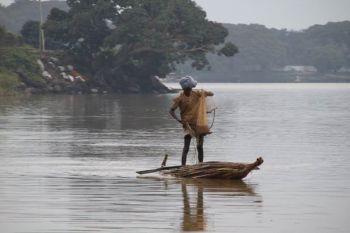 Pescadores en \'\'tankwa\'\' en el Lago Tana: Etiopía