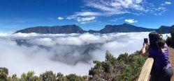 Vistas al Piton des Neiges y le Gros Morne desde el Dimitile tras la subida en 4X4: Reunión, Mauricio, Rodrigues