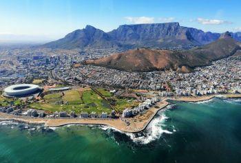 Cape Town. Vista aérea. Sudáfrica.: Sudáfrica, Mauricio
