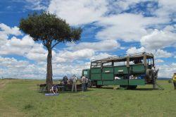 El camión,nuestra casa durante los días de viaje: Kenya