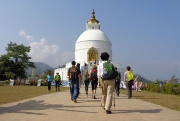 Pagoda de la Paz,Pokhara: Nepal