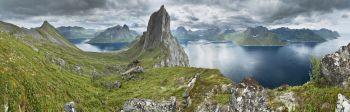 Panorámica de las islas Lofoten: Noruega