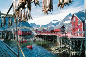 Nusfjord, islas Lofoten: Noruega