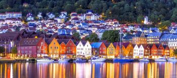 Bryggen, Bergen.: Noruega