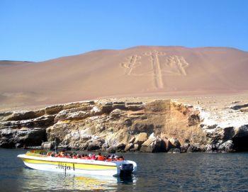 El Candelabro en islas Ballesta: Perú
