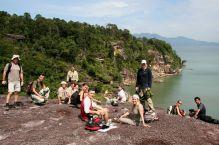 En los acantilados de Bako: Malasia