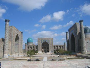 Plaza del Registan de Samarkanda: Uzbekistán