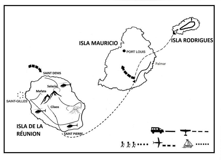 mapa de Expedición Mascareñas