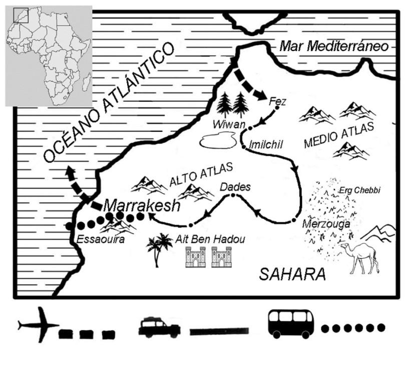 Haz clic para ver mapa de Imizig, la Ruta Bereber