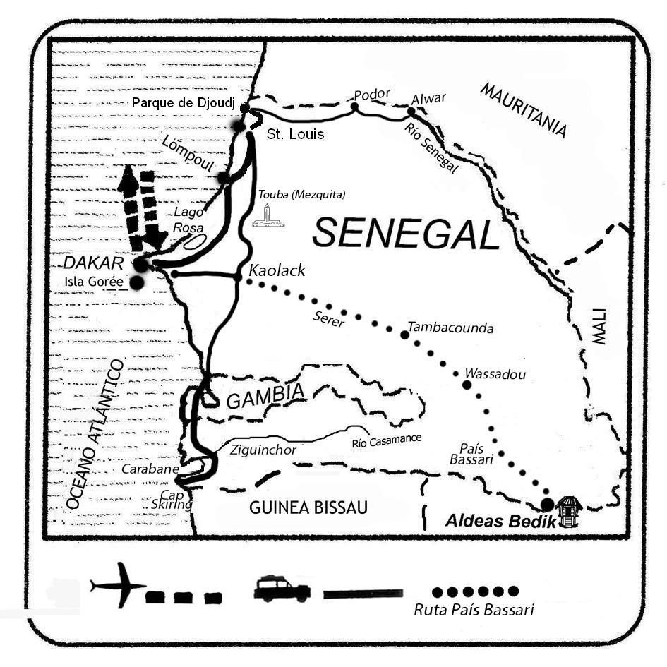mapa de Senegal, Expedición Teranga