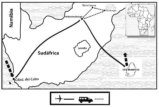 mapa de Indic safari