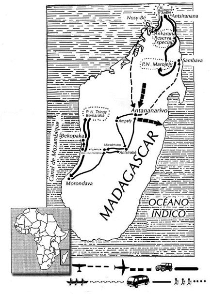 mapa de Expedición Madagascar